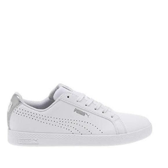 55579b581d6a Puma Ladies  Leather Shoe Smash Perf Met White C. M 5bc8ed01aaa5b8f690b26232